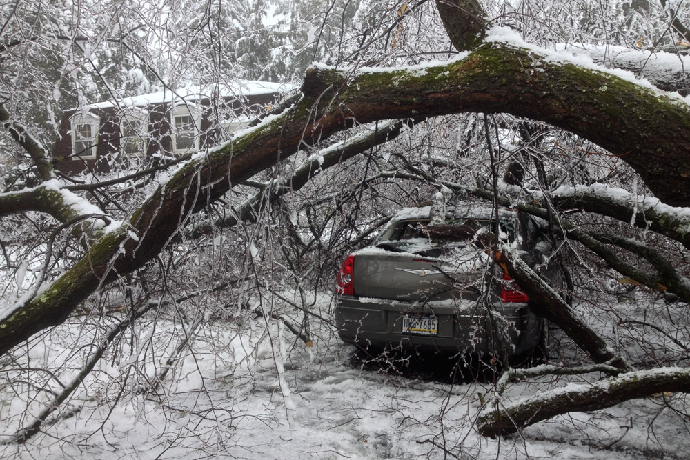 Well I was going to do the Week 6 hike during the ice storm before Ma Nature got all nasty on this poor car
