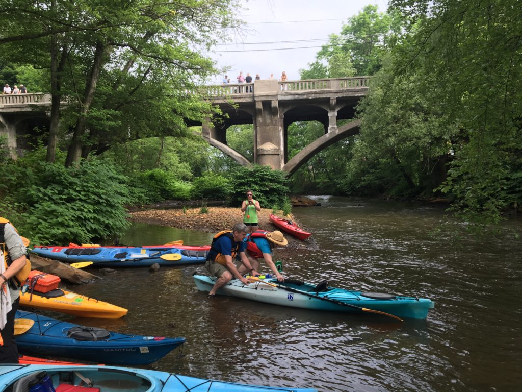 And we're off: putting in at Schuylkill Haven
