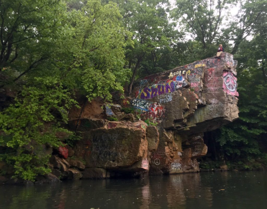 Peace Rock, downstream.