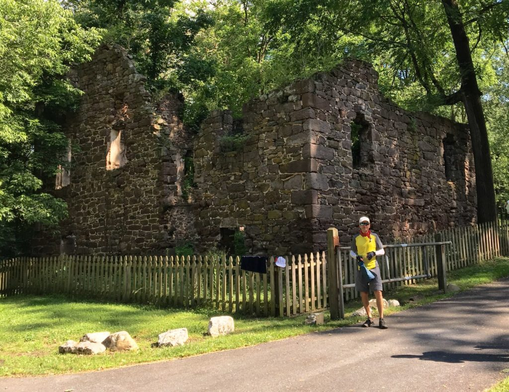 Ruins of the Beidler Mill, built 1760s.