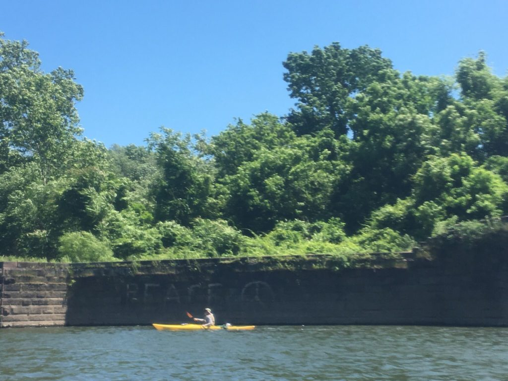 Paddling is peace. Appropriately, near Valley Forge.